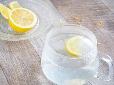 朝のレモン白湯